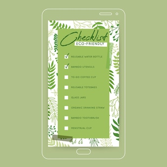 Going green checklist instagram story