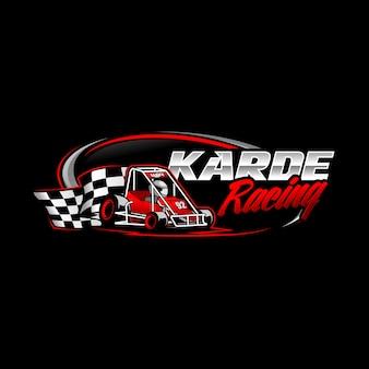 Gokart racing logo