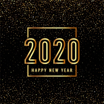 Gold 2020 happy new year text for glitters
