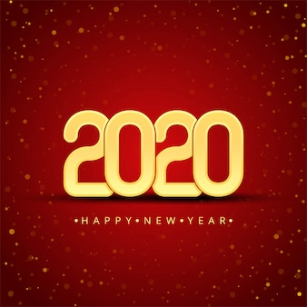 Gold 2020 happy new year