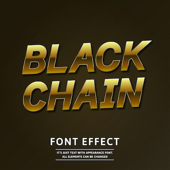 Gold 3d luxury text effect rotated stylish glossy
