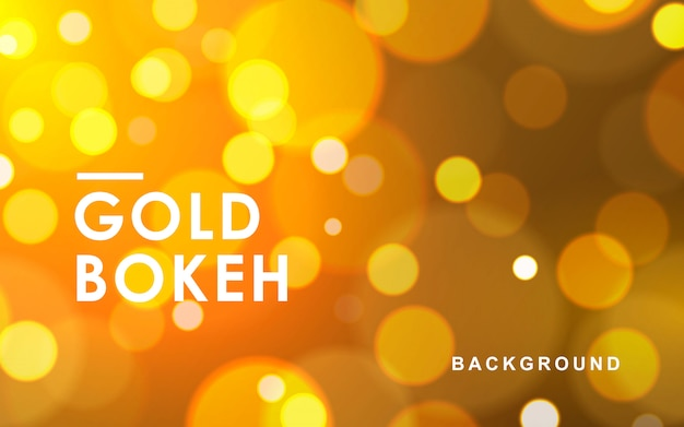 Gold abstract bokeh background sparkling lights