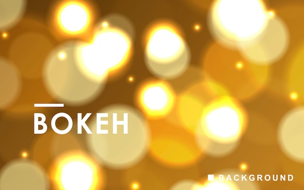 Gold abstract bokeh background with sparkling lights