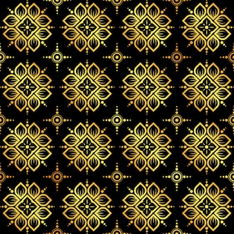 Gold abstract seamless pattern