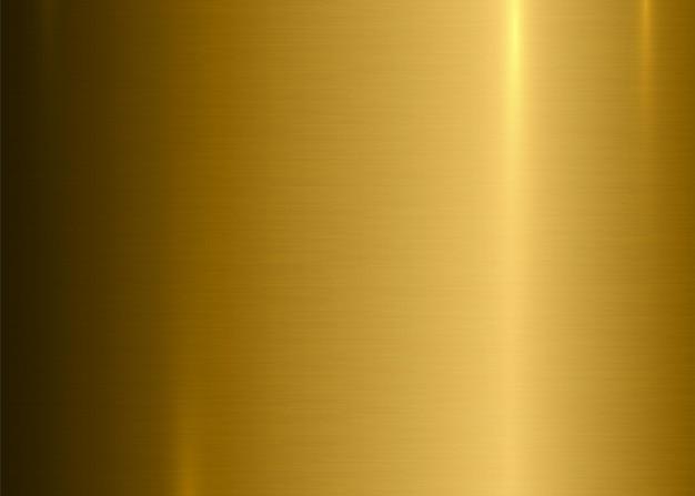 金の抽象的なテクスチャ背景金属ブラシをかけられたニッケルまたは現実的なハイライトと金の表面