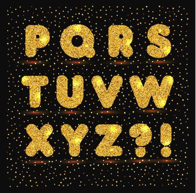 メタリックスタイルのゴールドアルファベット