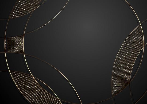 Золотой и черный абстрактный фон роскоши
