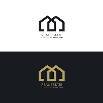 Gold and black logo with geometric shapes