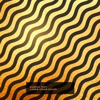 ゴールドと黒の波状の背景