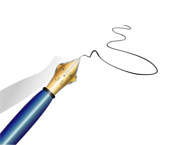 金と鉄の万年筆