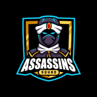 Gold army assasins mascot logo