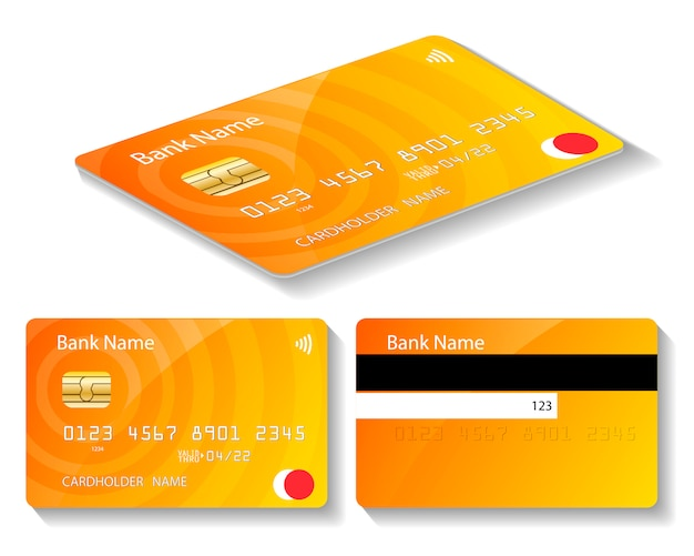 Gold atm card for bank
