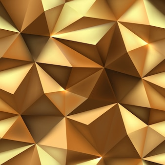 Gold background. abstract triangle golden texture.