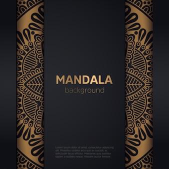 Gold background with mandala