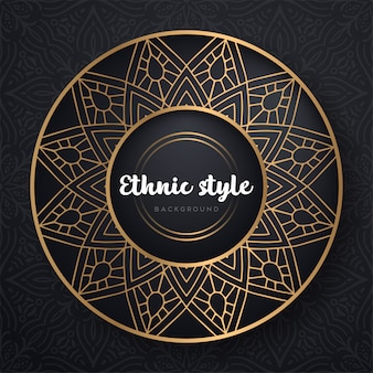 Gold background with mandala