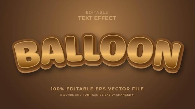 Редактируемый шаблон eps с текстовым эффектом золотой шар