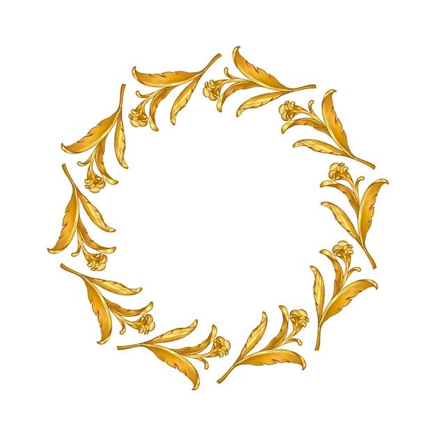 Gold baroque vintage frame scroll
