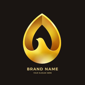 Gold bird logo