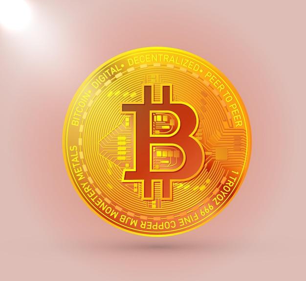 골드 bitcoin cryptocurrency 기호 절연
