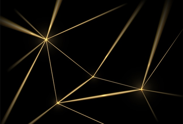 Gold and black background. luxury texture geometric lines, golden grid.
