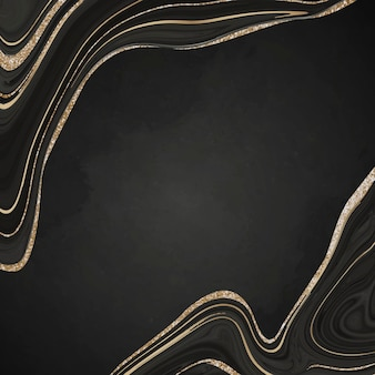 Gold and black fluid patterned background