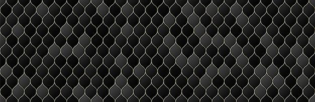 ゴールド、黒のグラデーションカラーグリッドシームレスパターン背景