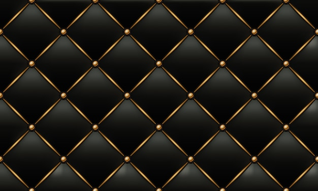Gold and black leather texture