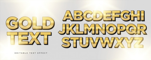 Gold black  text style effect