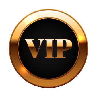 Gold and black vip label