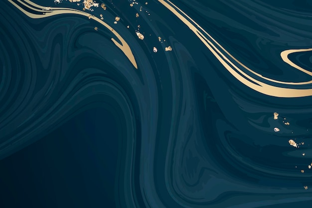 Gold and blue fluid patterned background