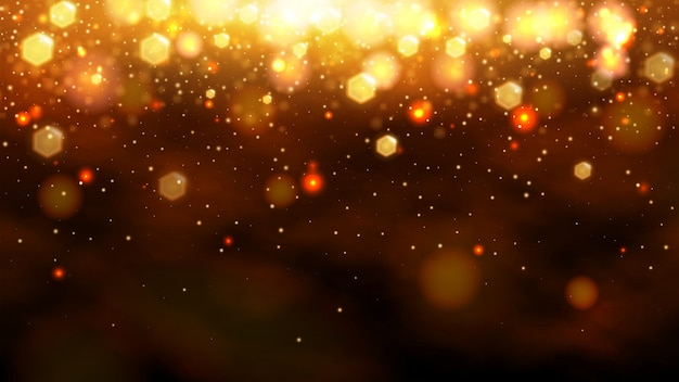 Gold bokeh abstract background.