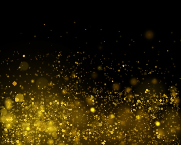 Gold bokeh abstract festive background