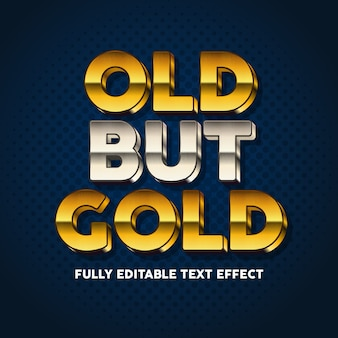 Gold and bold text typography style effect