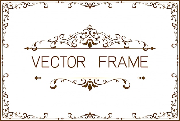 Gold border frame template of certificate