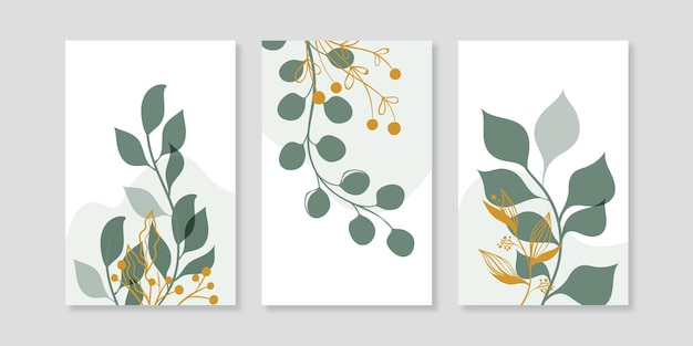 골드 식물 커버 컬렉션