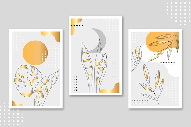 Gold botanical cover collection