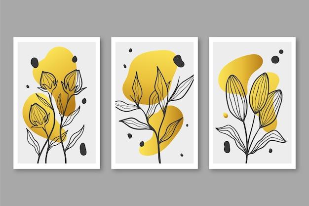 Золотая обложка с ботаническим рисунком