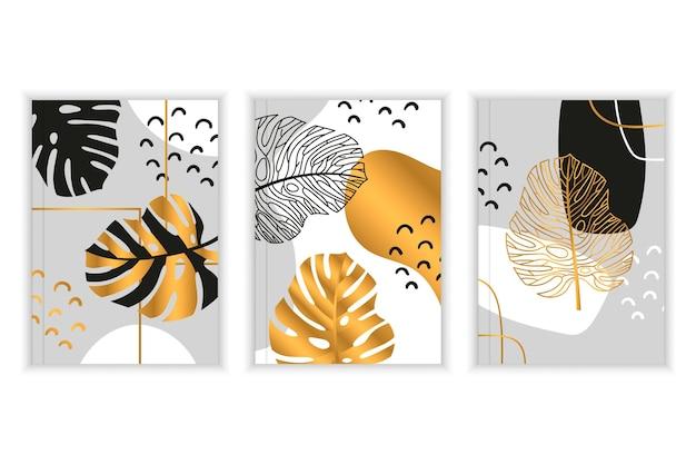 Gold botanical cover set