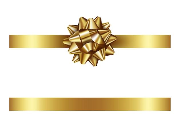 Золотой бант и лента