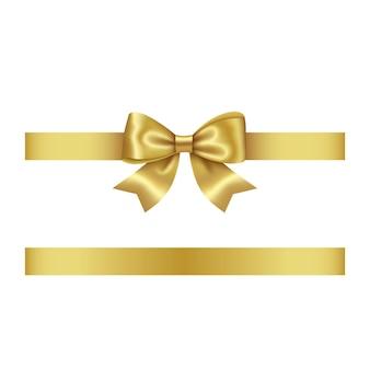 Gold bow and ribbon