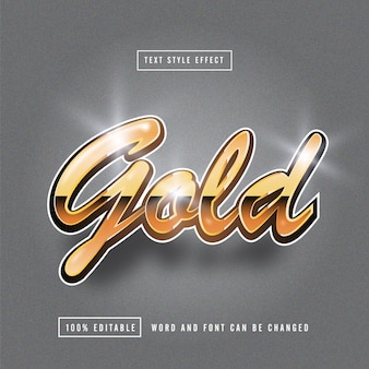 Gold bright text effect editable
