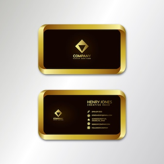 Gold and brown business card