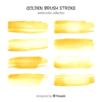 Gold brush stroke collection