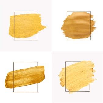 Gold brush strokes collection