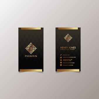 Gold business card design