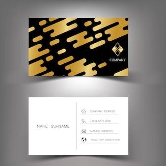 Gold business card template design.