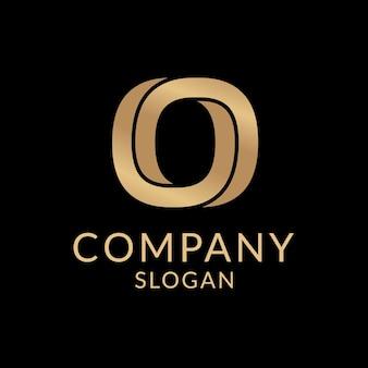 ゴールドビジネスロゴ美的テンプレート、プロのブランディングデザインベクトル