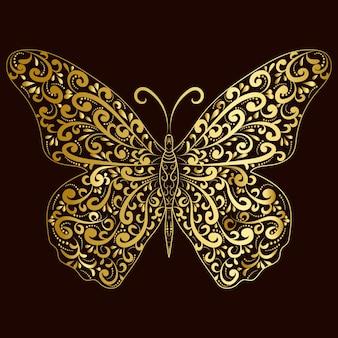 Gold butterfly art design