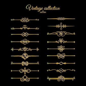Gold calligraphic page dividers