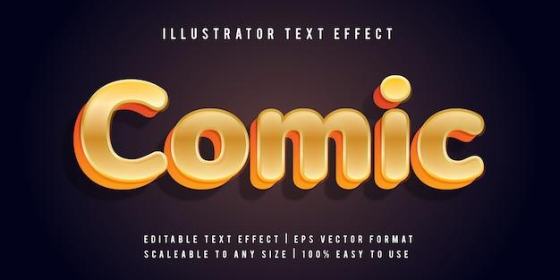 Gold cartoon fun text effect